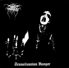 "Darkthrone ""Transilvanian Hunger"" - one of the darkest, and most iconic, album covers in NBM."