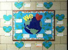 We love Earth bulletin board!