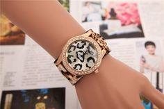 Luxury Rhinestone Watches Women Leather Bracelet