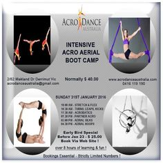 3rd & final aerial acro boot camp announced !