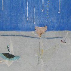 作者名/作品名柿崎 兆/砂浜 額サイズ46×40.5cm イメージサイズ 26×21cm 技法木版画 年代1997年 エディションEA:20