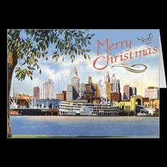 Vintage New Orleans Christmas Card