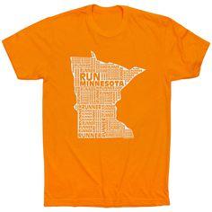2a50a076 Running Short Sleeve T-Shirt - Minnesota State Runner | Orange, Unisex, S |  Running Apparel