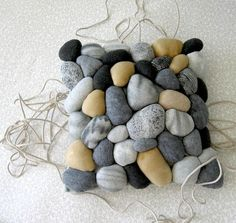 River rock pillow cover by miasole on Etsy, $60.00 home, design,