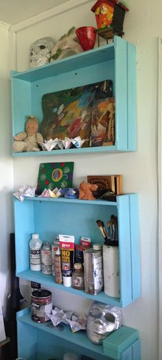 did it in the 70's, now upcycling drawers as shelving again