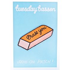 Tuesday Bassen Erase You Patch ($7) ❤ liked on Polyvore featuring accessories