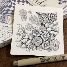 #zentangle #zendoodle #doodle #tangle #zenart #illustration #pendrawing #ペン画#ゼンタングル #イラスト #パターンアート #マインドフルネス