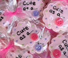 cute as a button #cookies #cupcakes