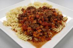 Kødsovs med tomat-hvidløg-bacon 4