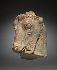 Fragment of a Goat's Head   Cleveland Museum of Art