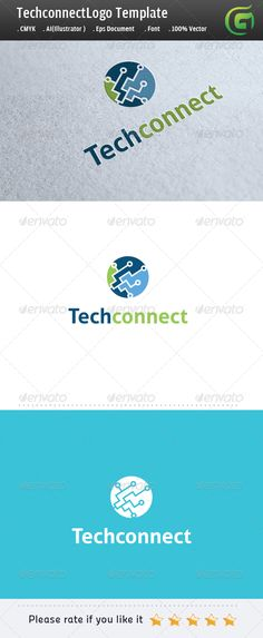 TechConnect  #GraphicRiver        Logo Description:  The logo is Easy to edit to your own company name.The logo is designed in vector for highly resizable and printing. The Logo Pack includes.   100% vector (re-sizable).