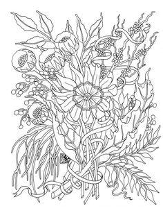 ausmalbild Grossen Blumenstrauss