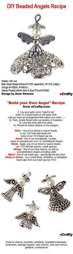 Make Ahead Gifts: DIY Beaded Angels Recipe from eCrafty.com | DIY Jewelry & Crafts from eCrafty.com