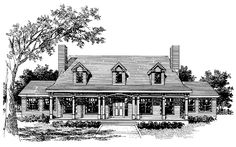 Farmhouse House Plan with 2276 Square Feet and 3 Bedrooms from Dream Home Source | House Plan Code DHSW64870