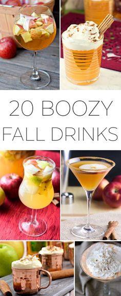20 Boozy Fall Drinks