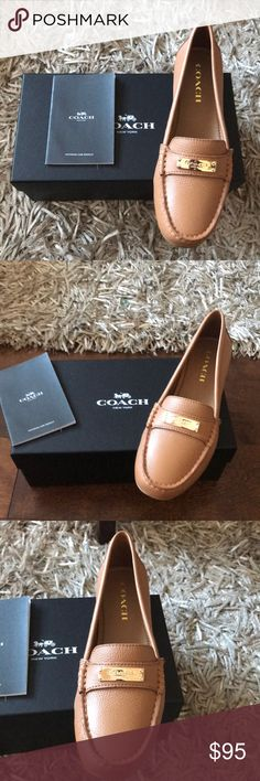 Coach leather shoes Moccasins Brand new pair of shoes with box & authenticity booklet Coach Shoes Moccasins