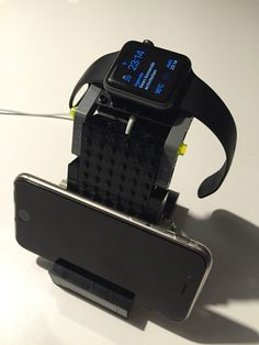 Home made Lego iPhone / Apple Watch dock.
