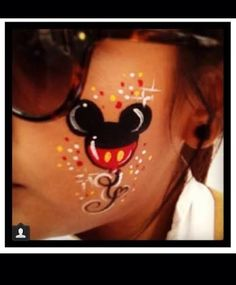 Resultado de imagen para mickey face paint