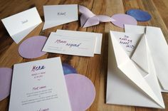 Kokoro - origami-inspired wedding invitations by A Tactile Perception. Unfold to reveal your event details. #weddinginvitation