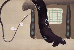 神坂雪佳『輪舞図』〈明治(1868-1912)末-大正(1912-26)初頃〉 神坂雪佳も、江戸時代の人ではない。幕末に生まれ、太平洋戦争がはじまった翌年まで生きている。近代にあって琳派の精神を追求し、純粋な絵画だけではなく、図案の仕事にも腕を振るった。その意味で、宗達や光...