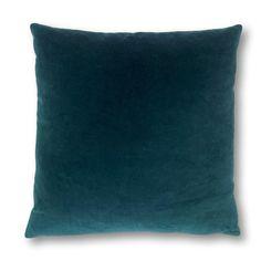 Teal Velvet Cushion - 40cm x 40cm / MATCHING ZIP