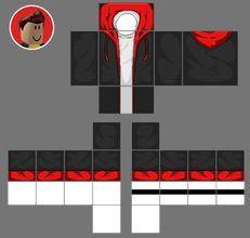 adidas logo rojo en sudadera de fondo de roblox