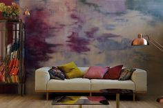 Create a beautiful mess: distressed walls in 3 Plascon Paint Colours, Paint Colors, Living Room Inspiration, Color Inspiration, Distressed Walls, Lounge Decor, Beautiful Mess, Spring Home, Light In The Dark