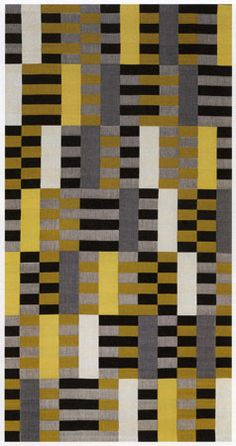 By Anni Albers, 1 9 2 6, Black-White-Yellow. Bauhaus textile.