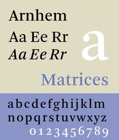 Arnhem — a text typeface designed by Fred Smeijers.