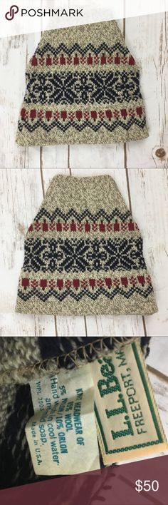 Bean Red Brown size OS Hats at a discounted price at Poshmark. Description: Vintage L. Knitted Beanies, Knit Beanie, Ski Hats, Apres Ski, Thrifting, Skiing, Bohemian Rug, Beans, Cap