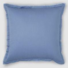 Hudson Park 800 TC Egyptian Euro Pillow Sham Delft Blue NEW $115