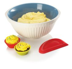 Get more cake from your baking with the Zeal More Cake Bowl Scraper. This product is a large, easy to use flexible bowl scraper that can clean mixture from a bowl in seconds. It is perfect for all types of cooking.
