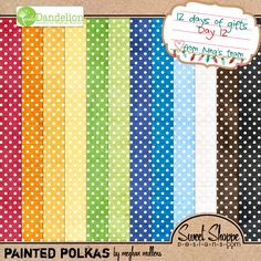 Painted Polkas paper pack #freebie at ConfessionsOfADigiJunkie.com #digiscrap #digifree Isn't this pack almost perfect?