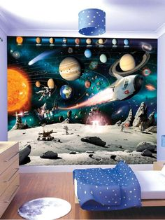 Space and Planets Wall Mural