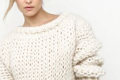 Wonderwool Sweater | Makes up quickly on sizes 17 and 50 knitting needles and super bulky yarn.