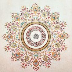 hand to health nurdancm 🥀 - Tezhip - Islamic Art Pattern, Pattern Art, Print Patterns, Motifs Islamiques, Arabesque Pattern, Turkish Art, Islamic Art Calligraphy, Cute Backgrounds, Mandala Art