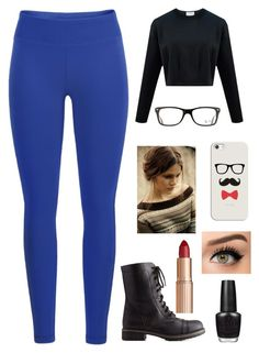 """""""#5"""" by devynbarton on Polyvore featuring Black Diamond, Ray-Ban, Charlotte Russe, Casetify, Charlotte Tilbury and OPI"""