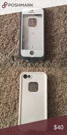 White Lifeproof 5S Case A tiny tiny tiny bit dirty on the back, but not terribly noticeable unless you look closely. 😊 LifeProof Accessories Phone Cases
