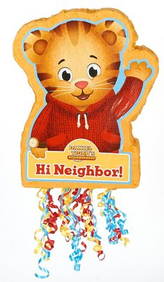 Daniel Tiger's Neighborhood Pull-String Pinata from BirthdayExpress.com
