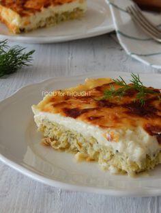 Food for thought: Πράσα ογκρατέν Grain Foods, Lasagna, Vegetarian, Vegetables, Ethnic Recipes, Gratin, Lasagne, Veggie Food, Vegetable Recipes