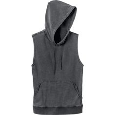 RVCA Women's  Label Sleeveless Hoodie ($49) ❤ liked on Polyvore featuring tops, hoodies, sweaters, tanks, black, sleeveless hoodie, rvca hoodie, sleeveless tops, hooded sweatshirt and rvca hoodies