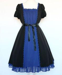 Moi Meme Moitie Bi Colour Short Sleeved Op Gothic Lolita Dress   eBay