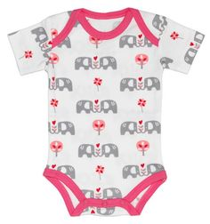 Fresk Baby Bio-Body Kurzarm Elefant pink - online kaufen bei mypram.com