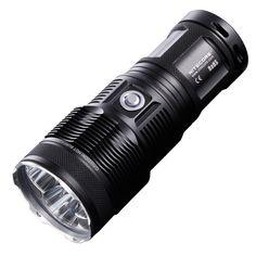 NiteCore Tiny Monster Triple Cree XML LED Flashlight, Black >>> You can find more details by visiting the image link. Bright Led Flashlight, Gear Best, Camping Lights, 18650 Battery, Emergency Preparedness, Survival Kit, White Light, Ebay, Black