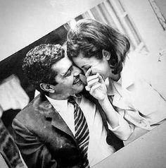 عمر الشريف مع زوجته فاتن حمامة