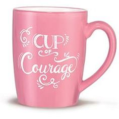 Breast Cancer Crusade Cup of Courage Mug - - Great give back! The holidays are the time to take a moment and think less about ourselves and more about giving back. This mug set is not only charming, but your purchase supports the Avon Breast Cancer Crusade, supporting women who are battling breast cancer and funding research to find a cure.
