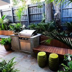 Dee & Darren garden, The Block Triple Threat Outdoor Areas, Outdoor Seating, Outdoor Rooms, Outdoor Living, Outdoor Decor, Outside Room, Deco Nature, Terrace Design, Small Backyard Landscaping
