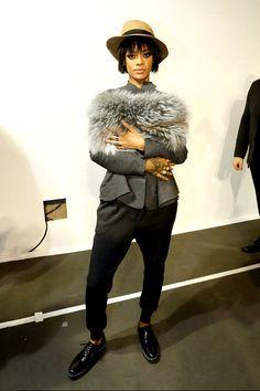 At Lanvin Fashion Show At Paris Fashion Week (Feb. 27)