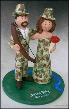 Hunting themed Wedding Cake toppers