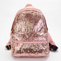 Nuevo 2015 Bling del Paillette mujeres del bolso del morral Colorful Canvas mochilas mujeres de viaje bolsa colegio bolso de escuela de libro
